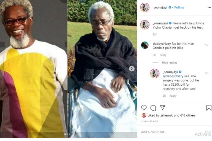 New Photos Of Sick Veteran Actor, Victor Olaotan Leaves Fans Shocked
