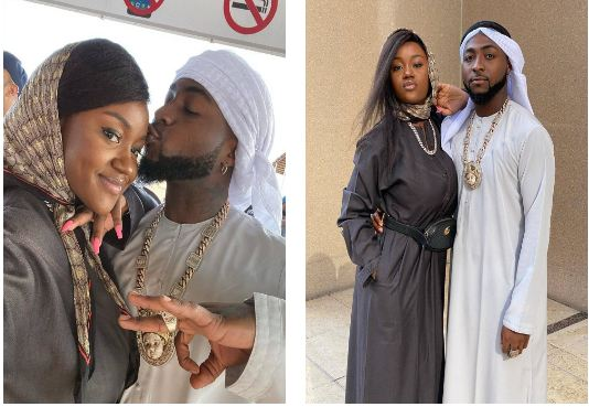 Davido and Chioma stun In Arabian Outfits as they enjoy a desert day out (Photos)