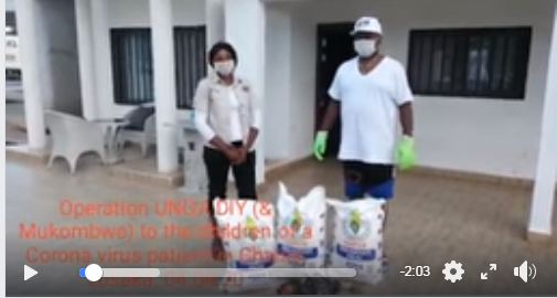 Sampa Donates Mealie Meal To Family Of Covid-19 Patient