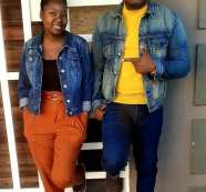 Ephraim rocking demin jeans with his wife