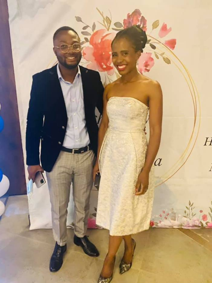 Photo: Tasila Lungu and husband Patrick At Miles Sampa's wedding