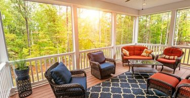 Heater for screened-in porch
