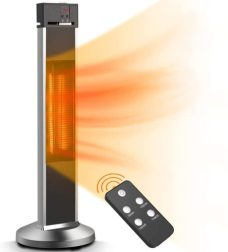 Infrared heater for screened porch