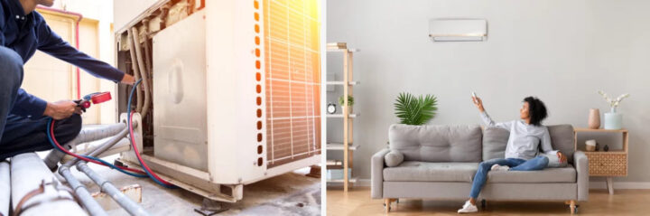 Does a Window air conditioner take in air from outside