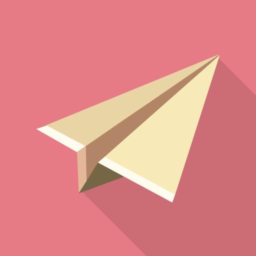 紙飛行機アイコン
