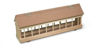 wood feed trough-no roller