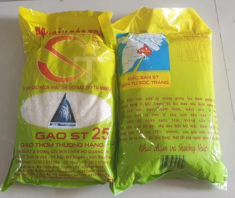 Gạo ST25 - Gạo ngon nhất thế giới của Sóc Trăng