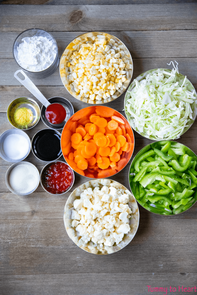 Ingredients for Mr. Ping's noodle soup