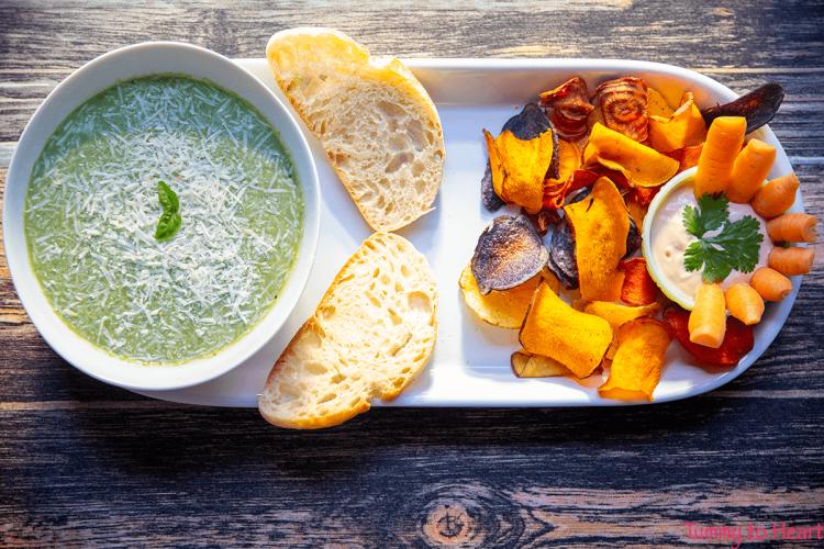 carrot green soup card