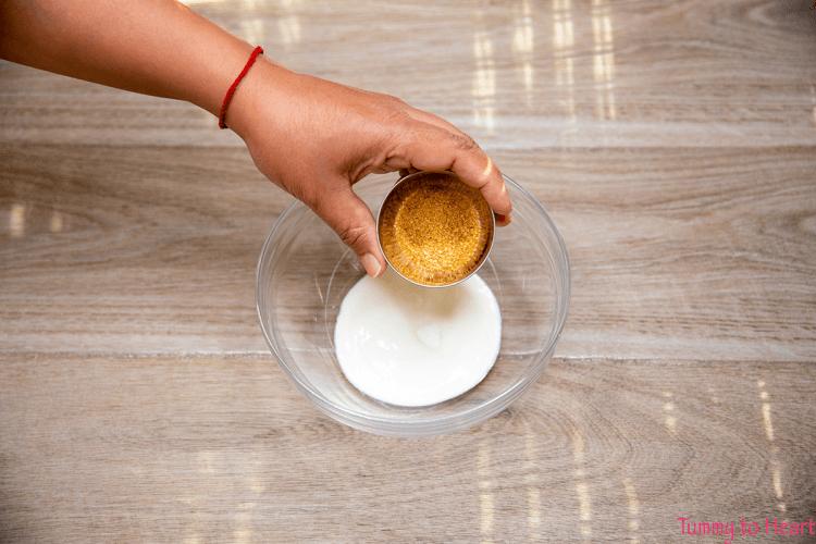 sugar for koshimbir