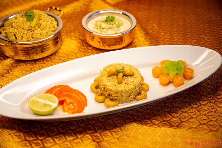 masale bhaat with koshimbir