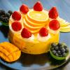 eggless custard cake main