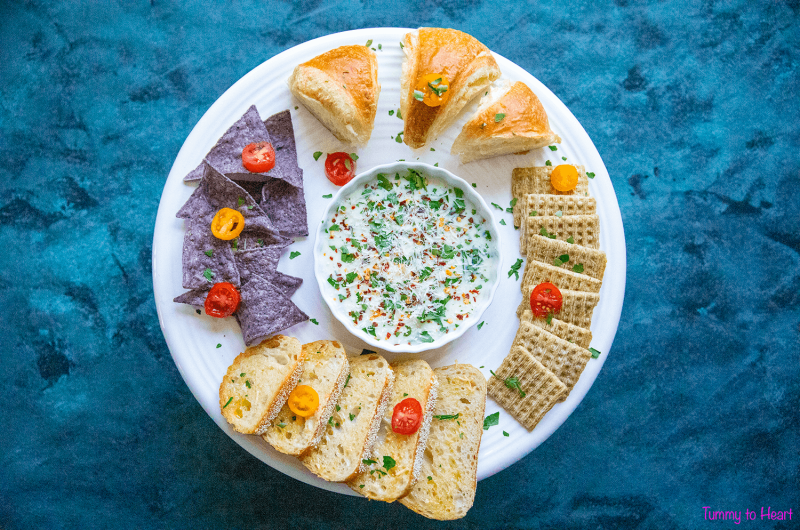 Spinach Alfredo Dip - Perfect starter for an great evening