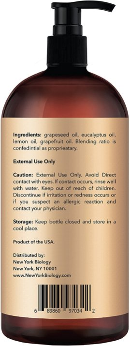 Anti Cellulite Treatment Massage Oil Ingredients