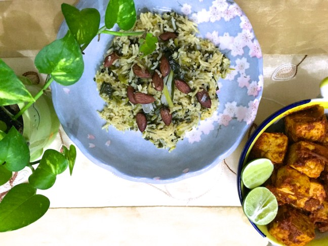 spinach pilaf 2