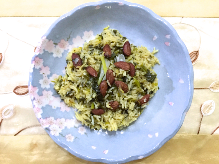 spinach pilaf 3