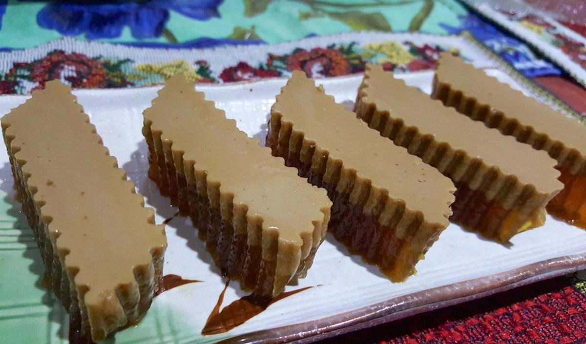 Gula Melaka Agar Agar With Coconut Cream