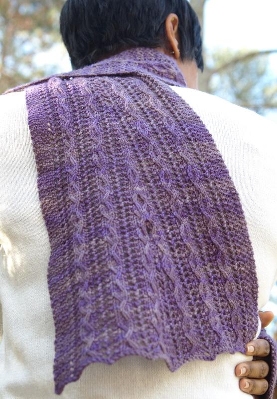 One skein shawl for 200 yards