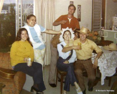 ?, Margara, Cristina, Julio y Pedro