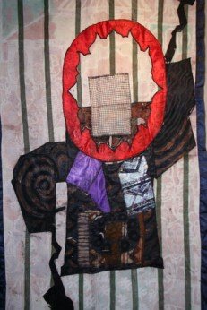 """Help From Above,"" batik quilt tapestry (BQT)"