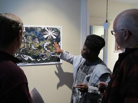 Tunde Odunlade explains the work at Khoury-Van Gilder