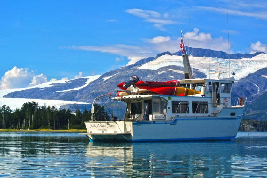Alaska Glacier Cruise 2014 PB Kayak Boat Blackstone 2014- Boat Mountains