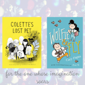 https://penguinrandomhouse.ca/books/251128/colettes-lost-pet#9781101917596 / https://penguinrandomhouse.ca/books/534079/wolfie-and-fly#9781101919392