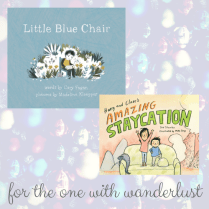 https://penguinrandomhouse.ca/books/237448/little-blue-chair#9781770497559 / https://penguinrandomhouse.ca/books/247728/harry-and-clares-amazing-staycation#9781770498273