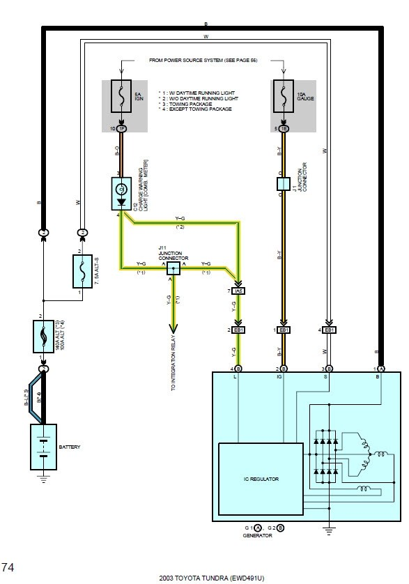 Toyota Alternator Wiring Diagram : toyota, alternator, wiring, diagram, Tundra, Alternator, Order, Toyota, Forums