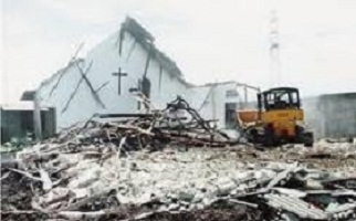 Indonesian church burned by Muslim mob