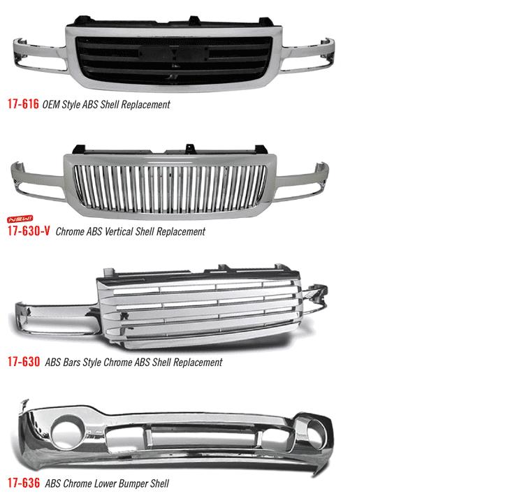 GMC Sierra 03-06 ABS Shells