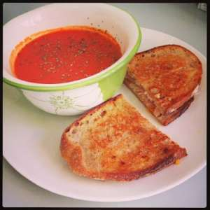Homemade Tomato Soup & Grilled Cheese