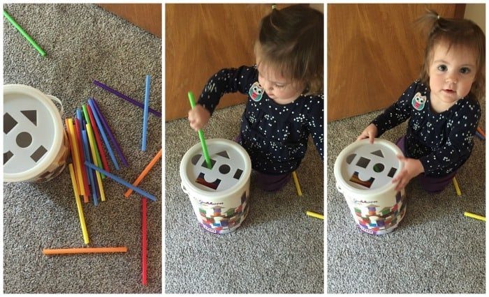 Is it just me or do kids like playing with trash more than toys? Here are several ideas for cheap homemade toddler toys - made in less than 10 minutes with stuff you already have around your house.