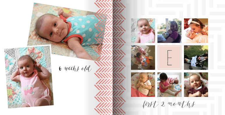 Mixbook baby books are cute & easy!