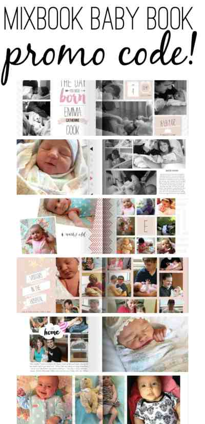 Our mixbook baby book turned out sooo cute! Click here for a review & a promo code.