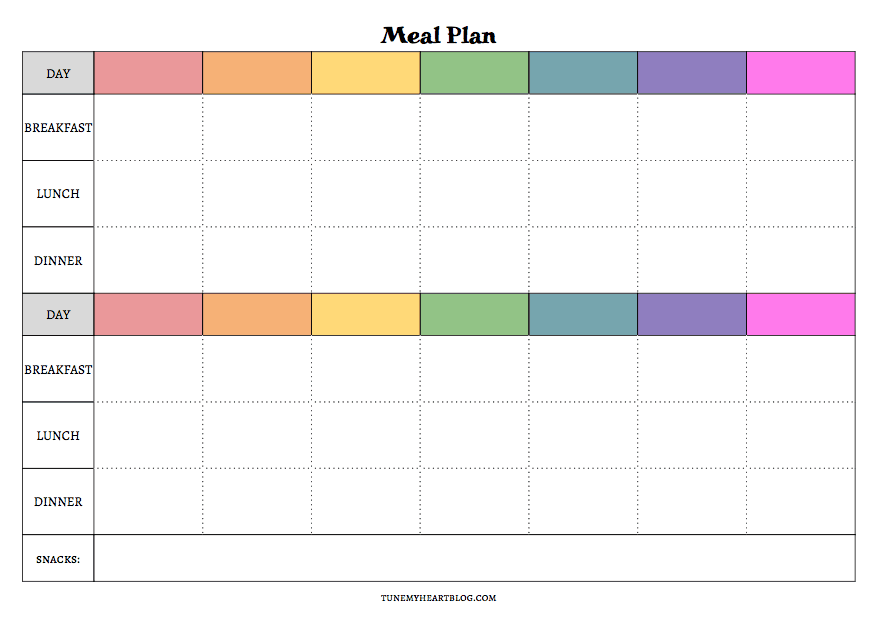 Printable Meal Planner Calendar : Meal planning calendars that are actually useful tune my
