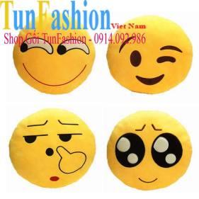 Gối handmade icon mặt cười