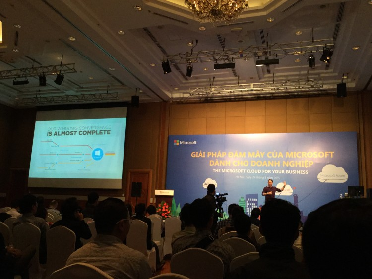 Hội thảo Microsoft Cloud, Azure, Visual Studio 2015