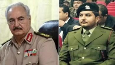 Photo of عـاجل/بالفيديو :حكومة الوفاق الليبية تعلن أسر نجل خليفة حفتر وهو المسؤول عن الدعم الإماراتي