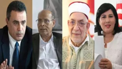 Photo of هذا ما حصل بين عبير موسي من المرزوقي ومورو وجمعة دقائق قبل انطلاق المناظرة التلفزية !!
