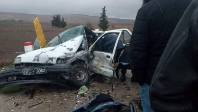 Photo of الكاف: حادث مرور خطير بسبب الأمطار (صور)