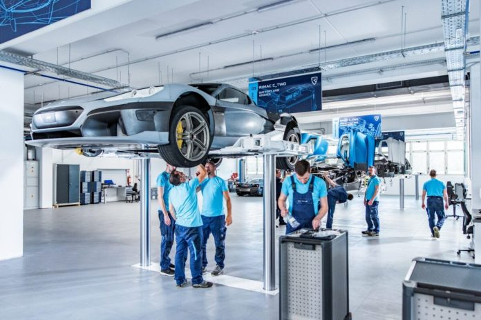 Rimac C Two Prototype Assembly Line 1