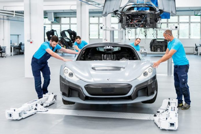 Rimac C Two Prototype Assembly Line 3