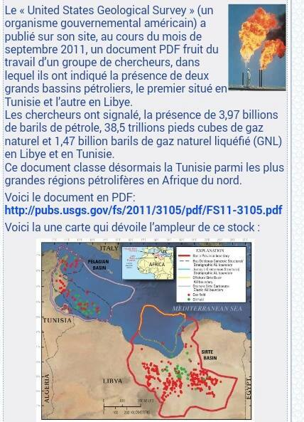 مسح جيولوجي أمريكي يكشف عن آبار نفط في تونس وليبيا