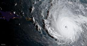 إعصار إيرما صورة بالأقمار الصناعية