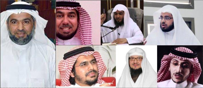 بعض المشائخ والعلماء والمفكرين الذين اعقتلتهم السلطات السعودية