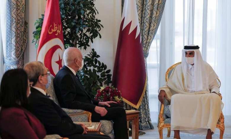 زيادة الجالية التونسية بقطر- قيس سعيد في قطر
