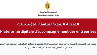 المنصة الرقمية الخاصة بمرافقة المؤسسات