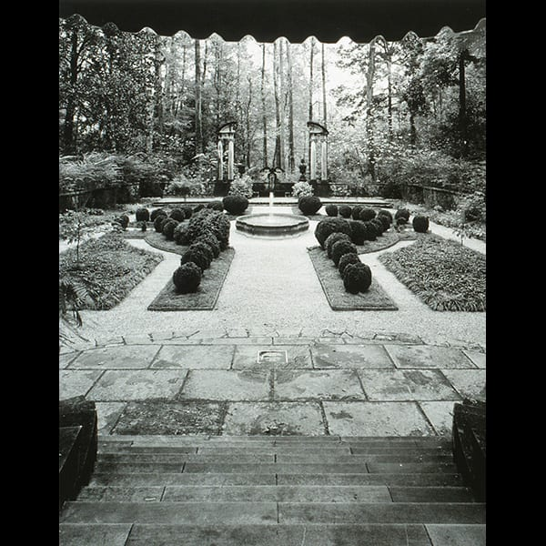 The Boxwood Garden at the Swan House in Atlanta, Georgia, historic restoration by Tunnell and Tunnell Landscape Architecture.