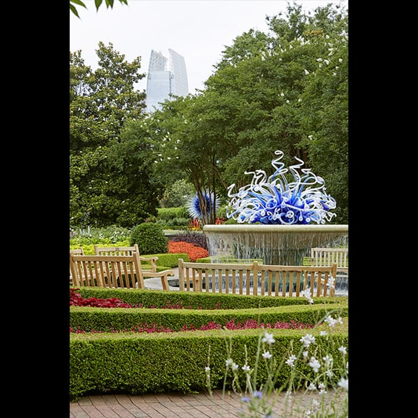 Glass Sculpture by Dan Chihuly in Parterre Garden at the Atlanta Botanical Garden